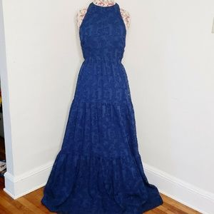 Kimchi Blue Julianna Jacquard Maxi Dress Open Back